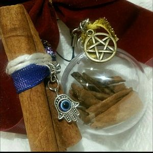 🎃Wicca ball ornament herbal intent w loop